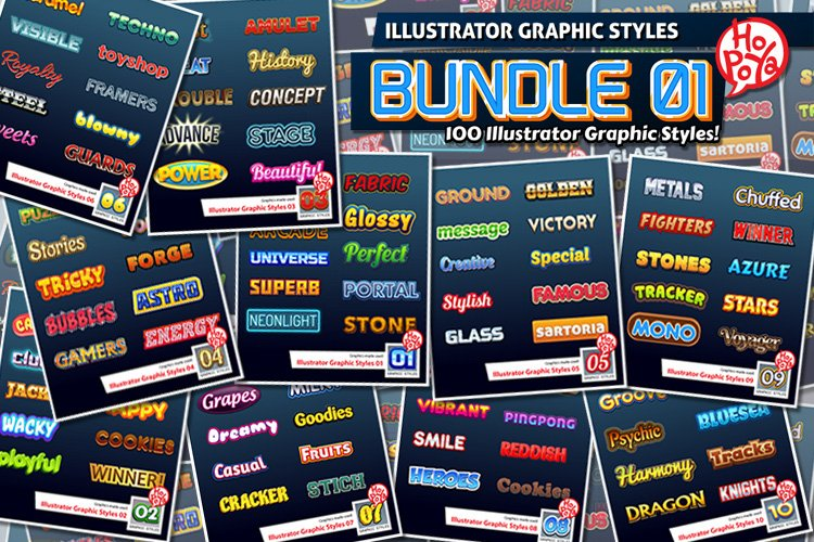 Illustrator Graphic Styles Bundle 01