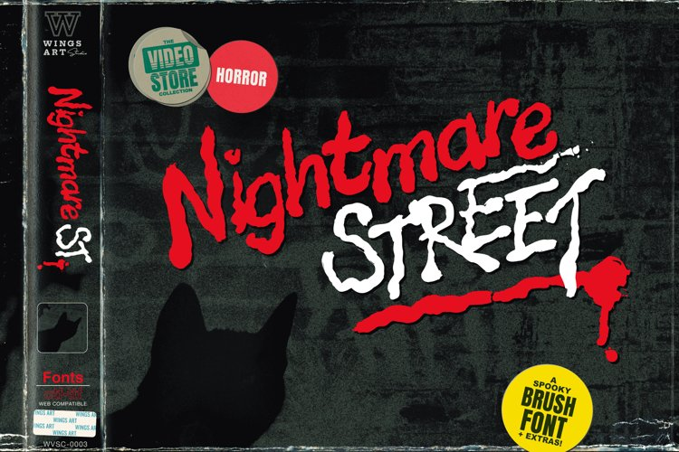 Nightmare Street - The Retro Horror Font example image 1