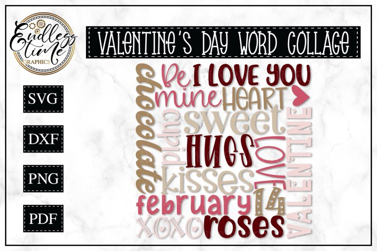 Valentines Day Subway Art SVG or Sublimation Design