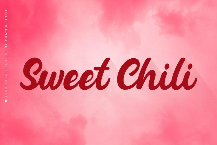 Sweet Chili I A Modern Script Font example image 1