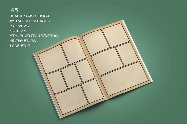 Blank Comic Book Interior Pages & Covers JPG-PDF-PSD-PNG example 7