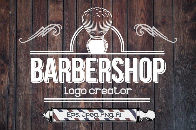 Vintage Labels Barber Shop example image 1