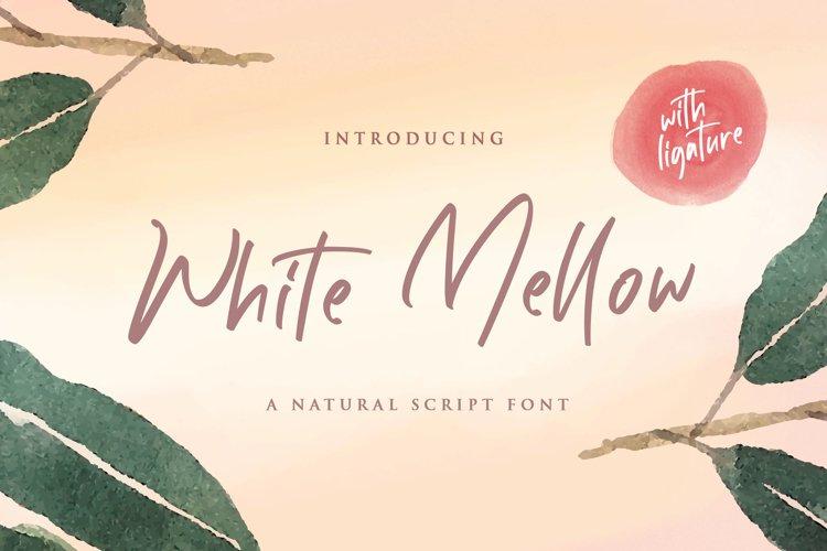 White Mellow - Handwritten Script Font example image 1