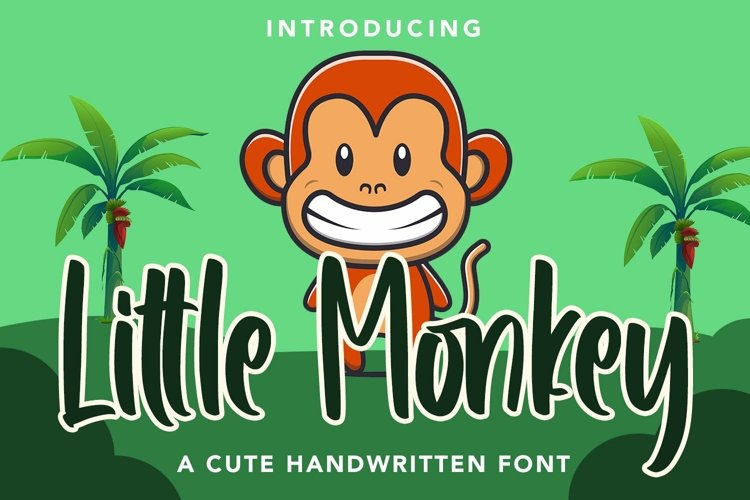 Web Font Little Monkey - Cute Font example image 1