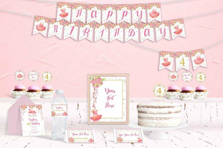 Ballerina Birthday Party Printables, Party Printables