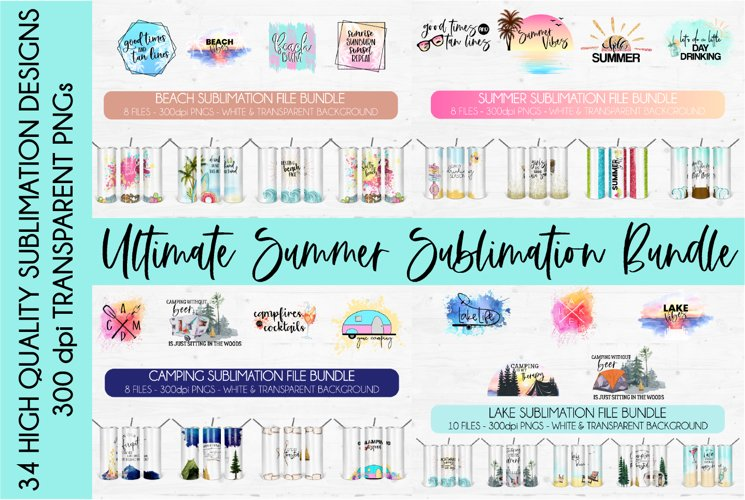 Ultimate Summer Sublimation Bundle | Huge Sublimation Bundle