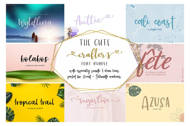 The Cute Crafter's Font Bundle example image 1