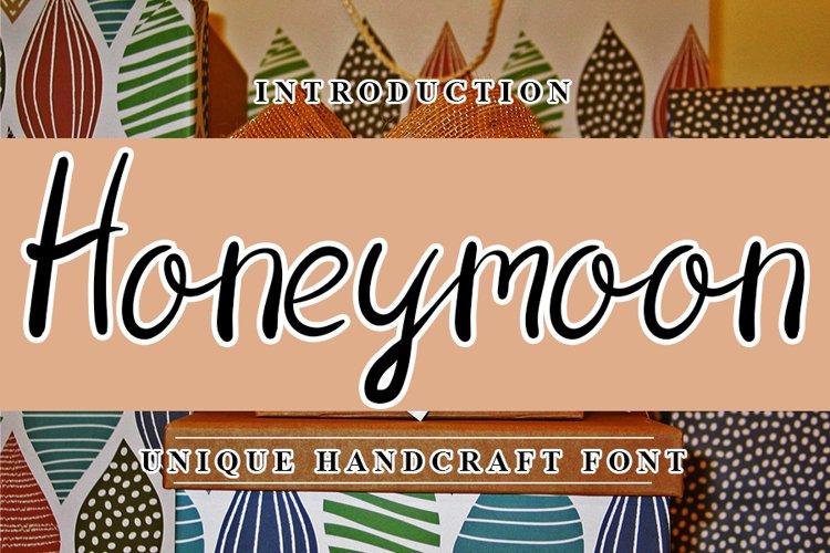 Honeymoon - Beautiful Font example image 1