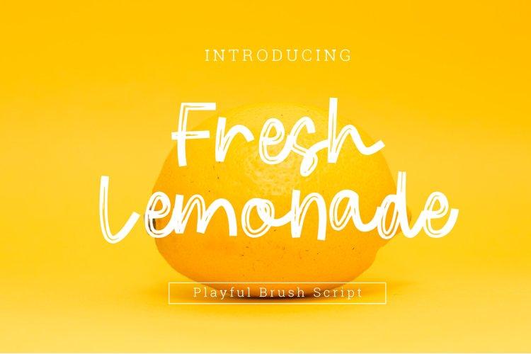 Fresh Lemonade Brush Playful Font Script example image 1