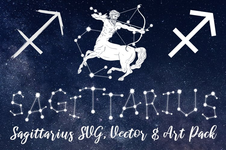 Sagittarius Zodiac, Constellation, Horoscope, Celestial Pack example image 1