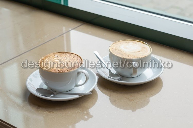 Two Cup of Cappuccino with beautiful crema