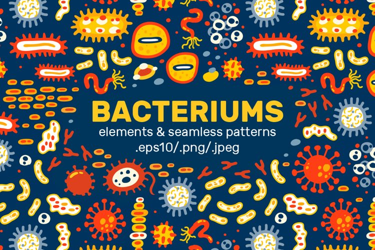 BACTERIUMS patterns & illustrations example image 1