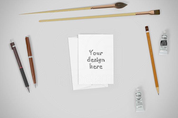 Horizontal invitation mockup CREATOR example image 1