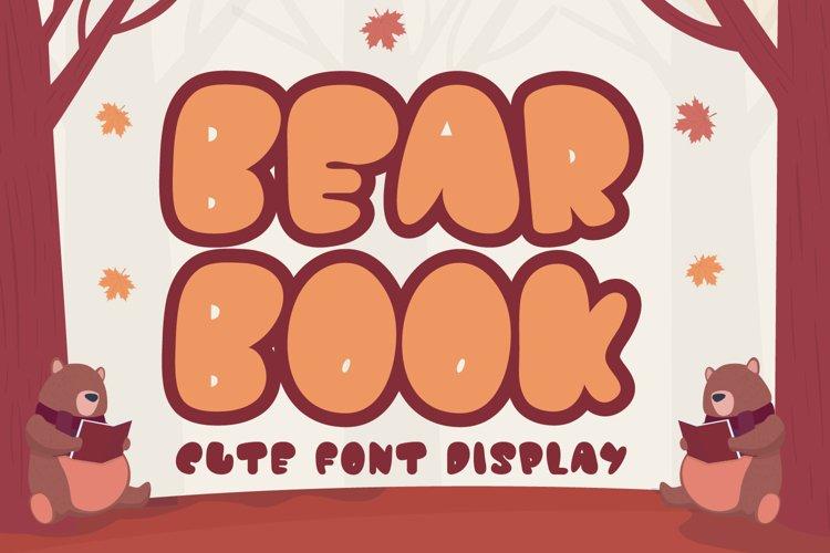 Bear Book - Display font example image 1