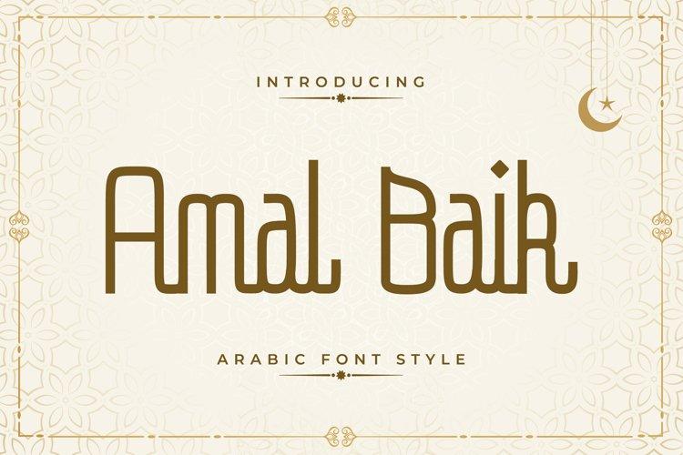Amal Baik - Arabic Font Style example image 1