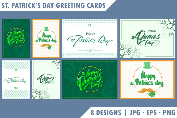 Collection of St. Patricks Day greeting cards.