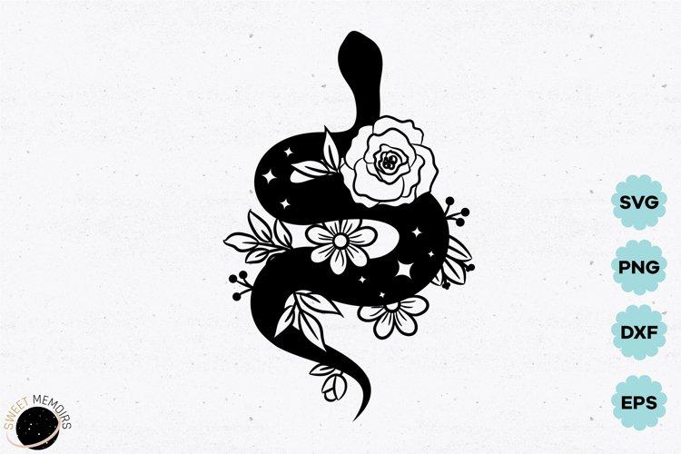 Boho floral snake SVG