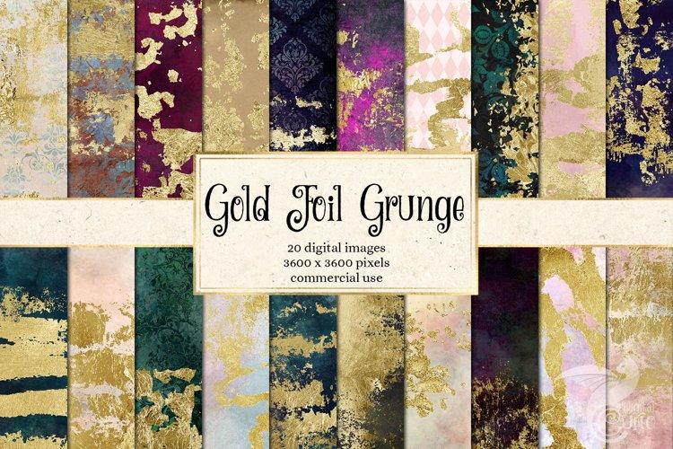 Gold Foil Grunge Textures