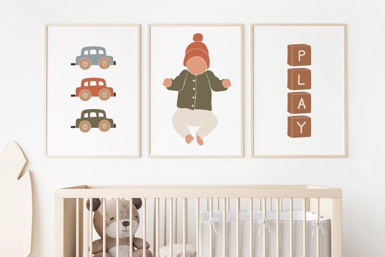 BOHO Kids Print, Nursery Wall Art, Play Print, Boho Toys example image 1