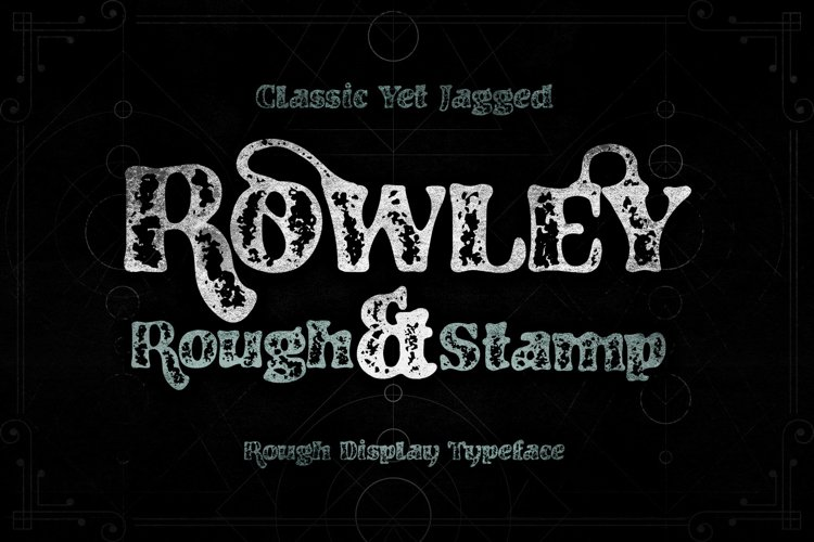 RowleyStamp Rough Display Typeface