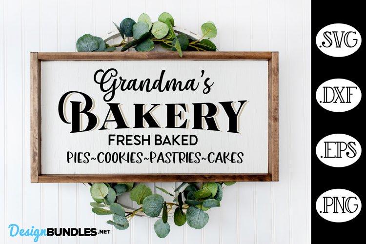 Grandmas Bakery Kitchen Sign SVG, Kitchen SVG