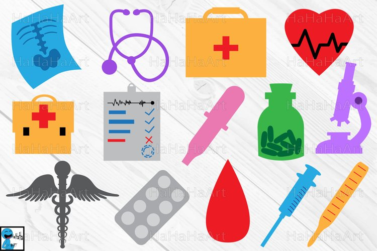Monogram Doctor and Medical - Clipart / Cutting File -2c