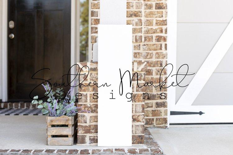 10x36 Front Porch Wood Sign Real Wood MockUp