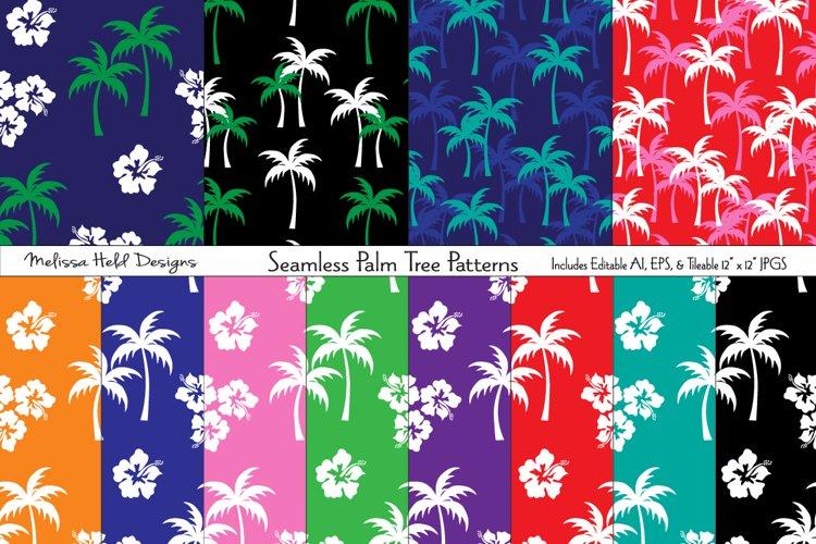 Seamless Palm Tree Patterns