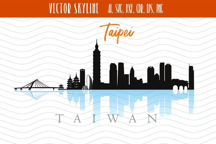 Taipei Svg Capital of Taiwan Vector Skyline example image 1