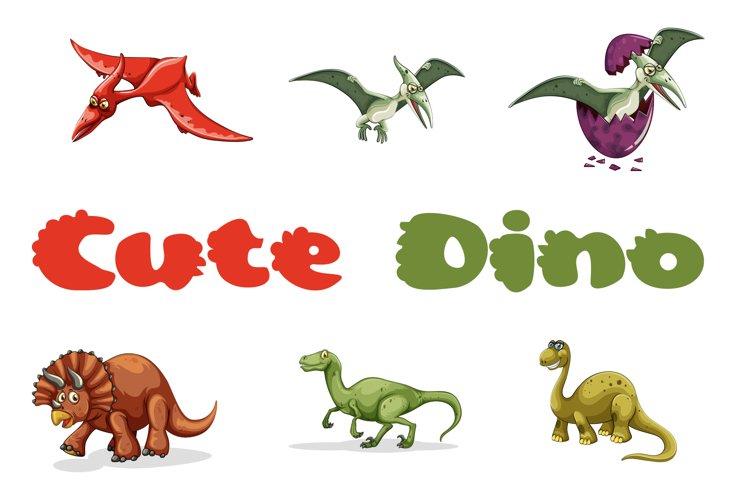 Cute Dino Dinosaur Font example image 1