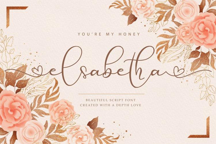 Elsabetha // Lovely Script Font example image 1