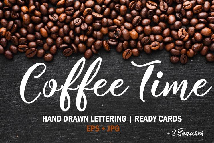 Coffee time Set. Coffee menu design example image 1