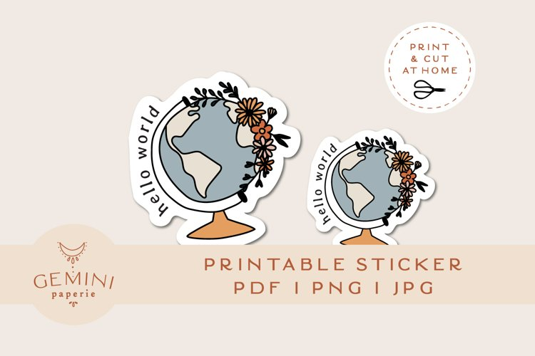 Printable Sticker   Laptop Sticker Print and Cut for Cricut example image 1