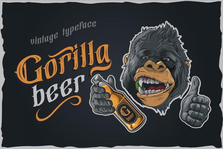 Gorilla beer - gothic typeface example 3