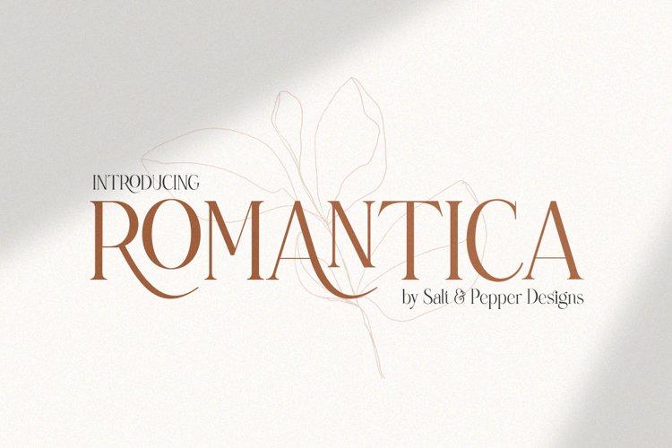 Romantica Serif Font example image 1