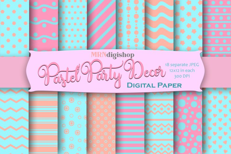 Party Decor Pattern Digital Paper Pack