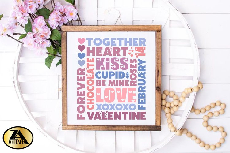 Valentines day SVG Valentine Sign SVG Valentine Subway Art example 3