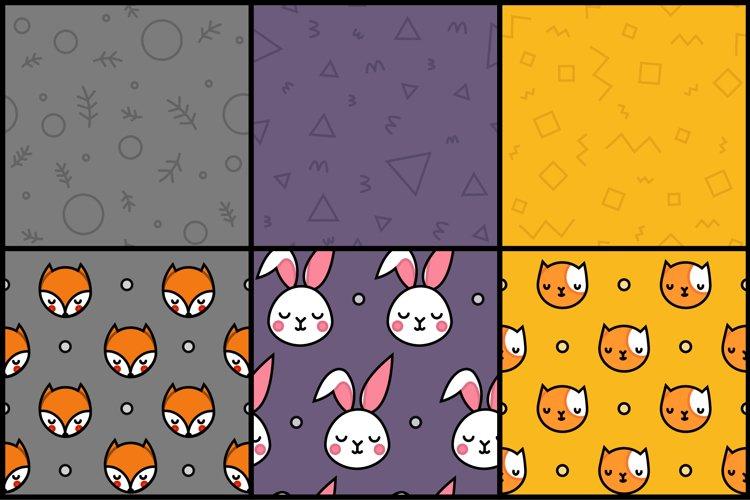 Animal Hugs Bundle - Illustrations and patterns example 1