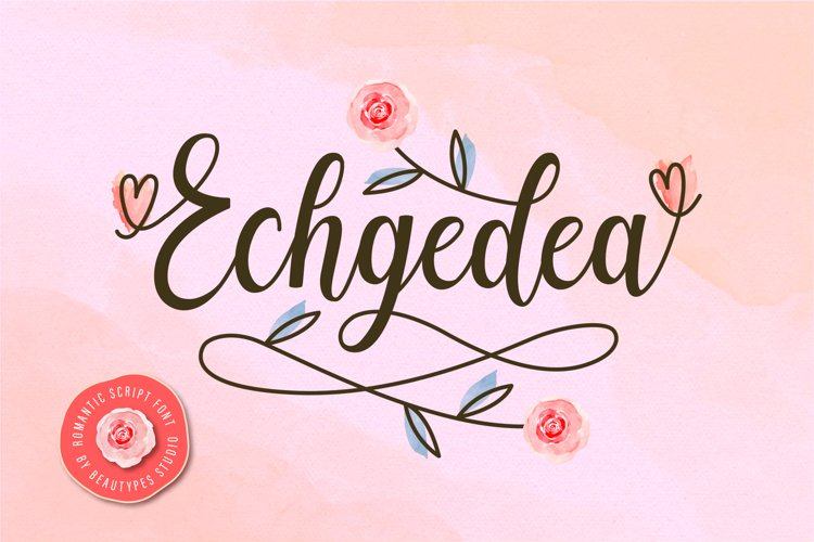 Echgedea - Romantic Script Font example image 1