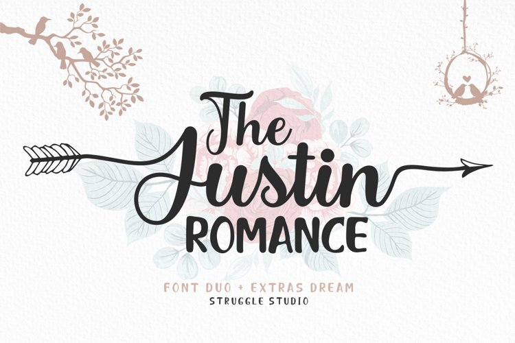 The Justin Romance - Font Duo plus Extras example image 1