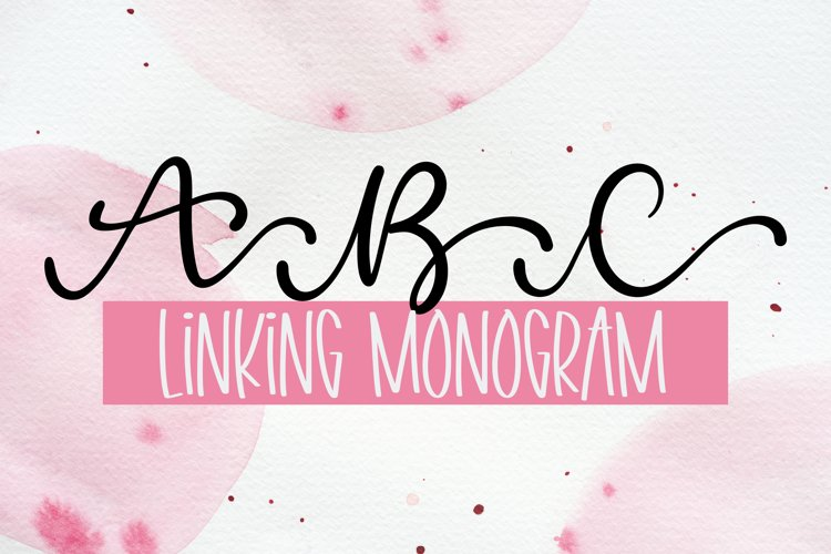 Linking Monogram Font - Linking Letters example image 1
