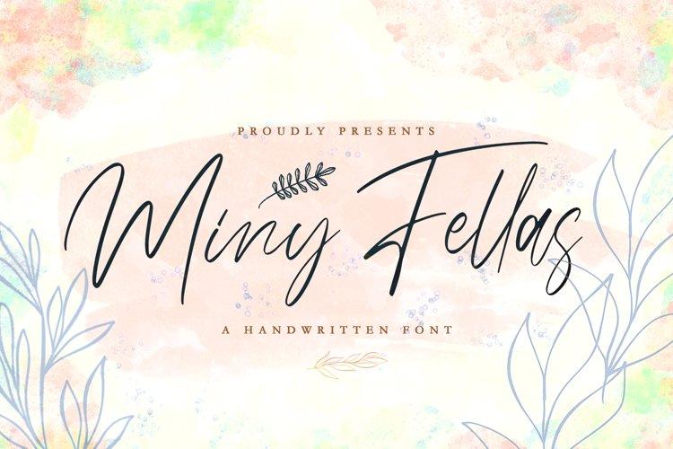 Miny Fellas - Modern Handwritten Font example image 1