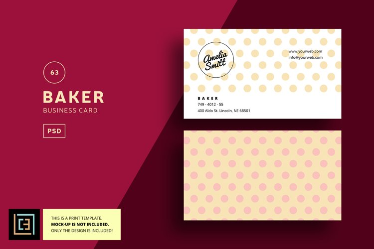 Baker Business Card - BC063 example image 1