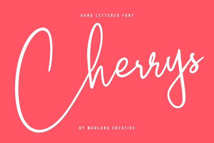 Cherrys Hand Lettered Script Signature Font example image 1