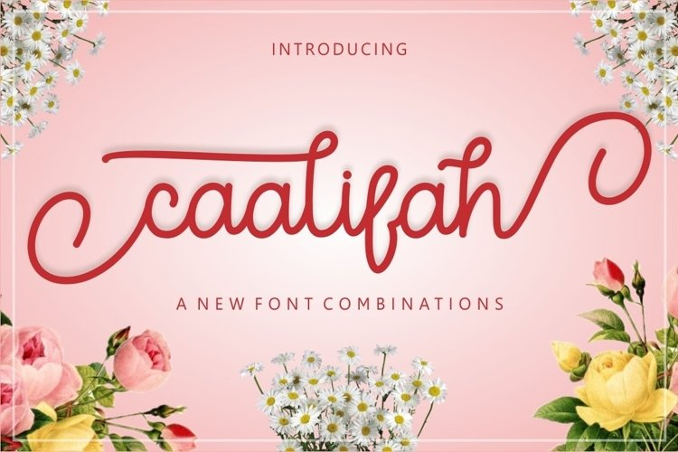 Web Font caalifah script example image 1