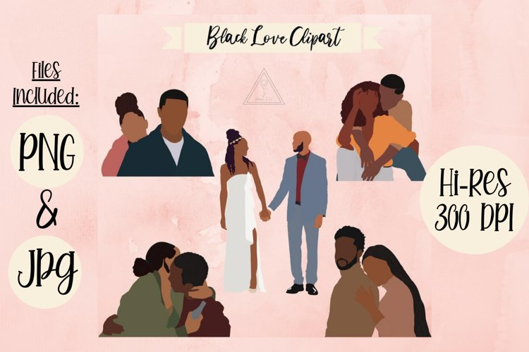 Black Love Clipart Bundle