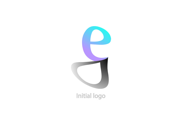 abstract logo template e g letter vector illustration graphi example image 1