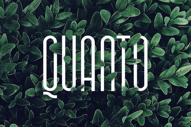 Quanto Typeface example image 1