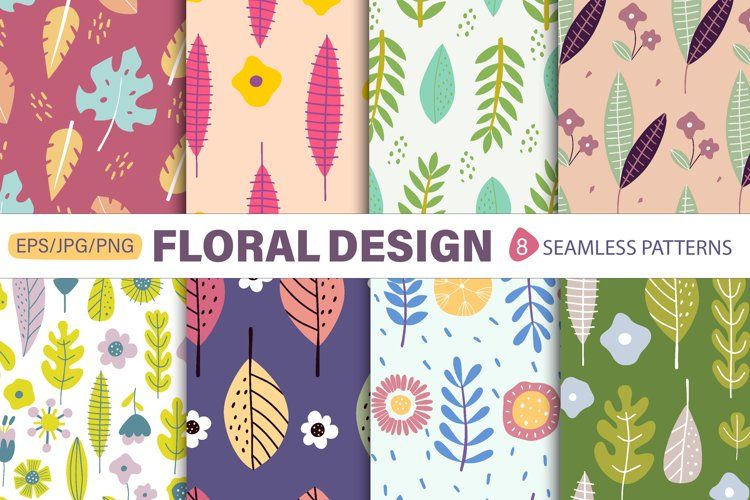 Flower Patterns, Digital Floral, Digital Pape example image 1
