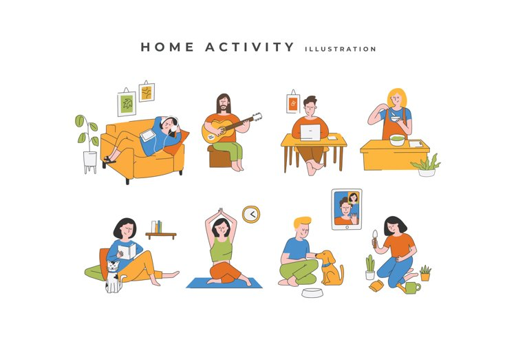 Home Activity Illustration